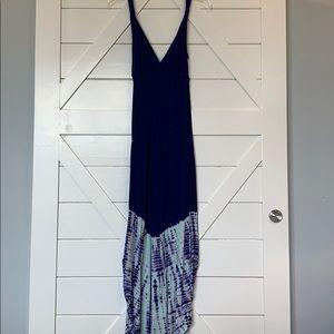 Gypsy XS tye dye blue maxi dress